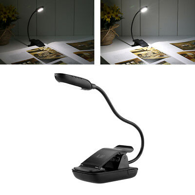 USB Bedside Clip-on Table Desk Lamp Dimmable LED Flexible Piano Reading Light