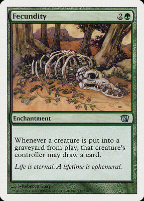 Fecundity FOIL 8th Edition PLD Green Uncommon MAGIC GATHERING CARD ABUGames