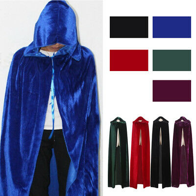 Halloween Costume Witchcraft Cape Gothic Hooded Stain Cloak Wicca Robe Cosplayl