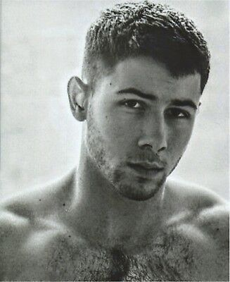 Nick Jonas 8 By 10 Professionally Developed Stubble Chest Hair