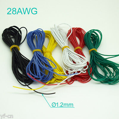 4 Meter 28AWG Flexible Soft Silicone Wire Tin Copper RC Electronic Cable 6 color