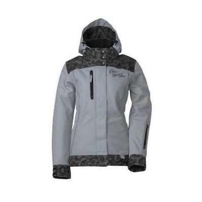 Divas SnowGear Lace Collection Womens Jacket (Gray, Small)