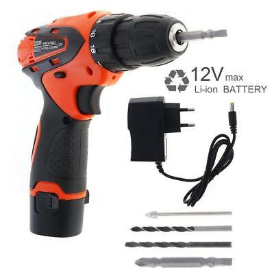 AC 100 - 240V Cordless 12V Electric Screwdriver / Drill for Handling Screws