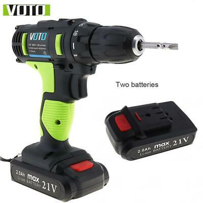 AC 100 - 240V Cordless 21V Electric Screwdriver / Drill with Adjustment Button