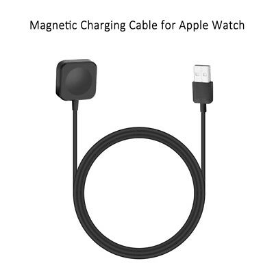 Black Magnetic USB Charging Dock +1m Cable For 38/42mm Apple iWatch Series 1/2/3