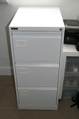 Silverline Executive Foolscap 3 Drawer Filing Cabinet White