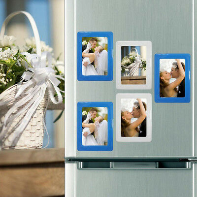 Clear Magnetic Photo Frames For Refrigerator 4 X 6 Pack Of 5