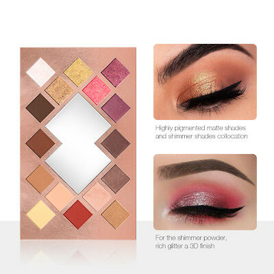 O.TWO.O 16 Colors Palette Eyeshadow Shimmer Eyeshadow Palette Matte Highlighter