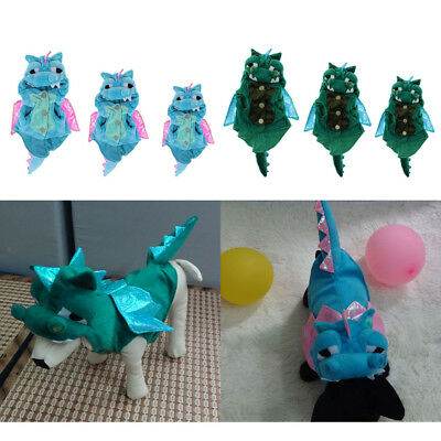 Funny Pet Dog Cat Halloween Clothes Apparel Dragon Cosplay Costume