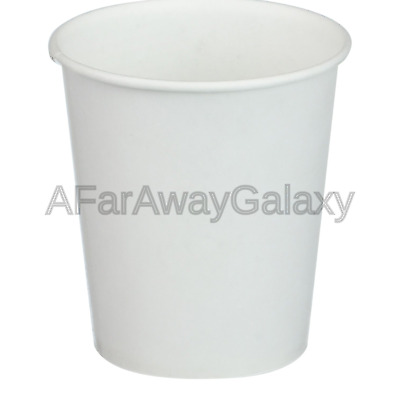 White Paper Water Cups, 3 oz, 100/Pack