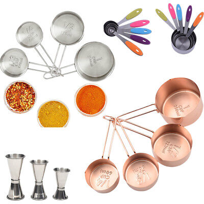Stainless Steel Measuring Spoons/Cups Baking Tool Cocktail Measuring Cup 8 TYPES