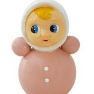 new pink Porcelain vintage style roly poly doll money box by Kitsch kitchen