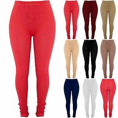 Plus Size Womens Ladies Stretchy Jeggings Long Leggings Jeans Skinny Trousers