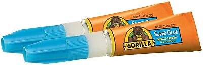 Gorilla Super Glue 3g Tube of For Metal, Wood,Paper, Leather & More Various Pack