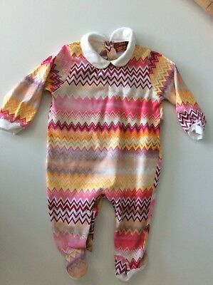 Missoni Girls Babygrow Age 6-9 Months Outfit Set Vgc