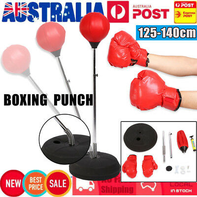 Standing Punch Bag Boxing Gloves Speed Ball Speed Training Punching Stand Gym