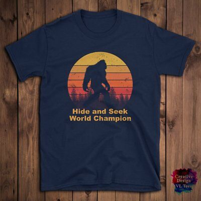 04692eb5a Hide and seek champion shirt bigfoot Funny gift idea, Men, Women, Unisex T