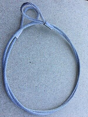 Steel Wire Rope Lifting Rigging Sling Cable Strops 2 Meter SWL 580 Kgs