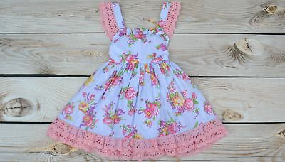 Cotton Kids Rose Lace Dress