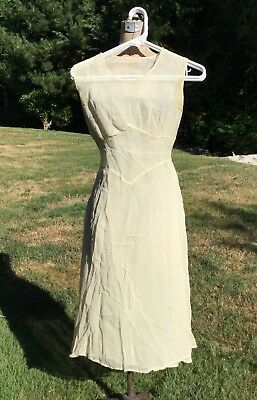 Antique Vtg 30s Wedding Dress Apron Ruffle Simple Handmade Lace Veil 1930s WOW