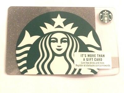 Free Ship 2018 New Two Yes Two! Starbucks Gift Card Sparkling Silver