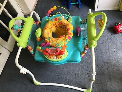 f5ca4204e426 FISHER PRICE JUMPEROO rainforest bouncer baby toy activity jumping ...