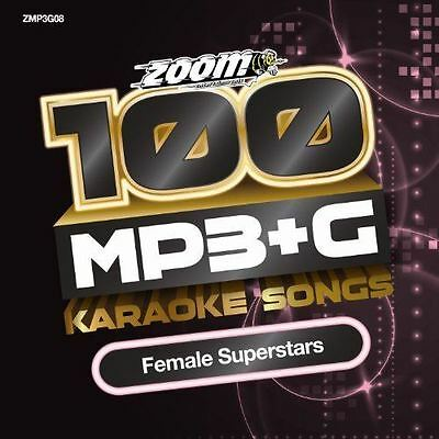 Zoom Karaoke MP3 + G 100 Songs Female Superstars New Sealed