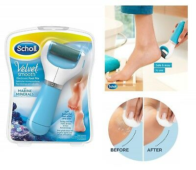 Scholl Velvet Smooth Electronic Foot File with MARINE MINERALS Express Pedi