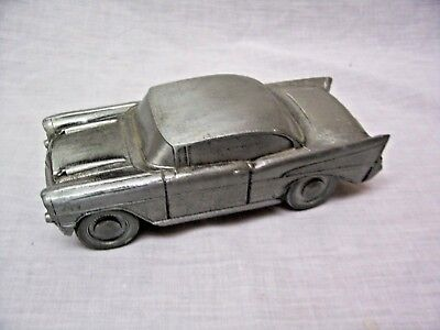 VG - Vintage Banthricos? 1957 Chevrolet Cast Metal Car Coin Bank! FREE Shipping!