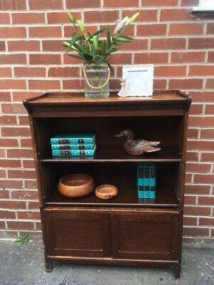 ANTIQUE OAK Bookcase MODULAR 1930s meramorphic furniture Vintage Solid Wood
