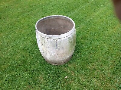 Vintage Galvanised Dolly Wash Tub - ideal garden planter
