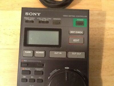 Sony Video 8 RM-E80 Editing Controller Hi8 8mm VHS S-VHS Analog Control L