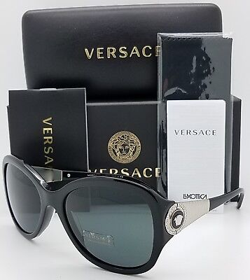 New Versace sunglasses VE4237 GB1/87 Black Grey Medusa 4237 Butterfly AUTHENTIC