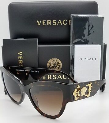 4049b6d3b7596 New Versace sunglasses VE4322 108 13 55 Tortoise Gold Medusa 4322 Cateye  GENUINE