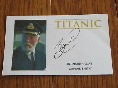 Bernard Hill Autographed 3x5 Paper Titanic Captain Smith Hand Signed