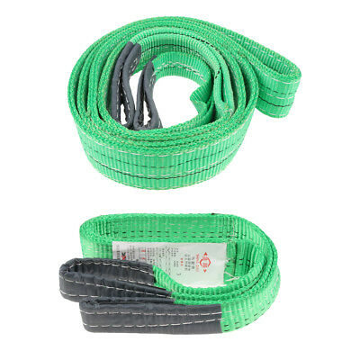 1 2 Ton Lifting Sling Car Emergency Tow Cable Heavy Duty Road Recovery Strap
