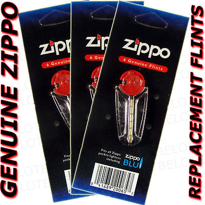 Genuine Zippo Replacement Flint 2406N 3 Packs 18 Flints FREE SHIPPING NEW