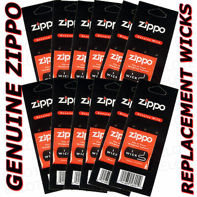 Genuine Zippo Replacement Wick 12 Pack Wicks 2425 USA MADE FREE SHIPPING