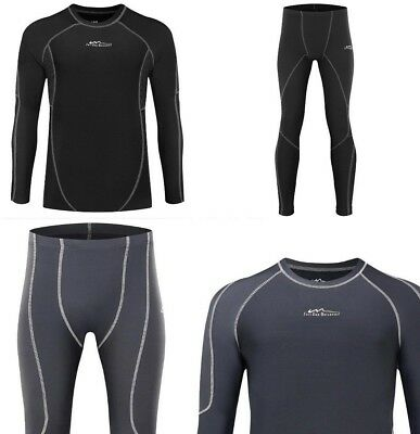 New Autumn Thermal Underwear Men Quick Dry Elastic Compression Long Johns Sports