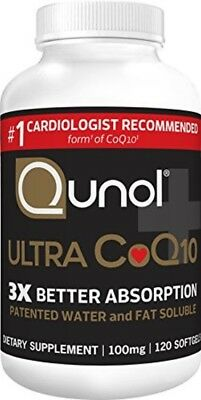 Coenzyme Q10 CoQ10 100mg Enhanced Absorption Gel Capsules Vascular Heart Health