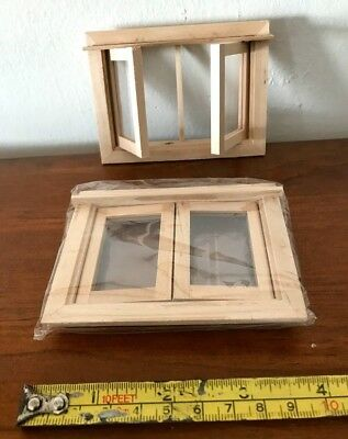 Doll House WoodenDouble Window- 1:12th- New & Quality!