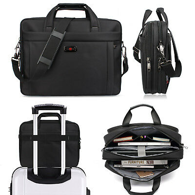 13/ 15 inch Travel Briefcase With Organizer Expandable Large Hybrid Laptop Bag