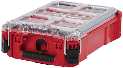 Portable Small Parts Organizer Storage Tool Box 5 Compartment Packout Milwaukee