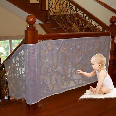 Safe Rail 10ft x 3ft Balcony Stairway Safety Net Banister Stair Child Protector