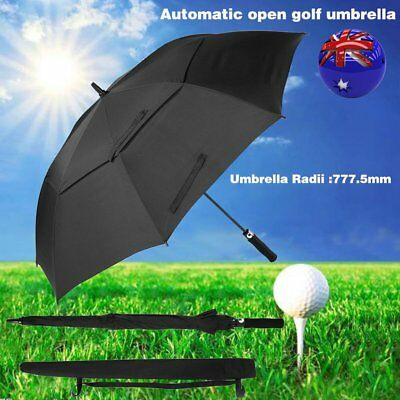 Extra Large Double-canopy Windproof Waterproof Automatic Open Golf Umbrella NEW