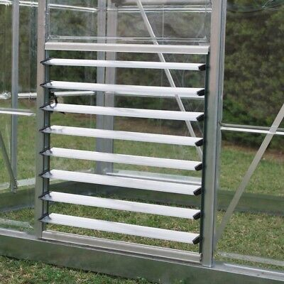 Greenhouse Supply Side Louvre Window 2 ft. Adjustable Ventilation Aluminum Made