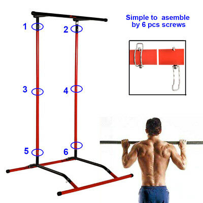 Pull Up Mate Portable Pull Up Bar & Dip Station With Storage Bag Gym Home UK