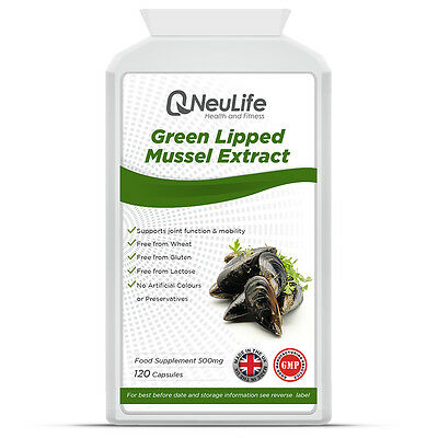 100% Pure Green Lipped Mussel Extract Capsules 500mg x 120 Capsules