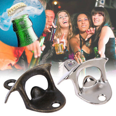 Bottle Opener Retro Wall Mounted Vintage Beer Wine Open Tool Home Bar Decoration