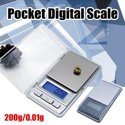 200g/0.01g Small Digital Jewelry Scale Mini Pocket Balance Weighing Lcd Weight